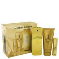 1 Million by Paco Rabanne - Gjafasett- 3.4 oz Eau De Toilette Spray + .34 oz Mini EDT Spray + 3.4 oz Shower Gel f. herra