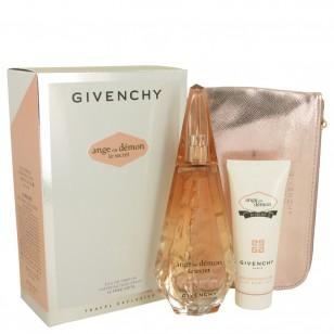 Ange Ou Demon Le Secret by Givenchy - Gjafasett -- 3.3 oz  Eau De Parfum Spray + 2.5 oz Body Viel + Pouch f. dömur