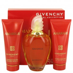 AMARIGE by Givenchy - Gjafasett -- 3.4 oz Eau De Toilette Spray + 2.5 oz Body Veil + 2.5 oz Bath Gel f. dömur