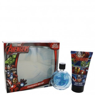 Avengers by Marvel - Gjafasett - 2.5 oz Eau De Toilette Spray + 5 oz Body Wash f. herra