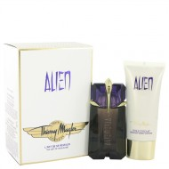 Alien by Thierry Mugler - Gjafasett -- 2 oz Eau De Parfum Spray + 3.4 oz Body Lotion  (Travel Set) f. dömur