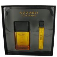 AZZARO by Azzaro - Gjafasett -- 3.4 oz Eau De Toilette Spray + 0.5 oz Mini EDT Spray f. herra