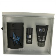 ANGEL by Thierry Mugler - Gjafasett - 3.4 oz Eau De Toilette Spray Refillable ( Rubber Bottle) + 1.7 oz Hair & Body Shampoo + .7 oz Deodorant Stick (Alcohol Free) f. herra