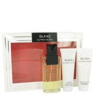 Alfred SUNG by Alfred Sung - Gjafasett -- 3.4 oz Eau De Toilette Spray + 2.5 oz Body Lotion + 2.5 oz Shower Gel f. dömur