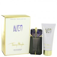 Alien by Thierry Mugler - Gjafasett- 2 oz Eau De Parfum Spray Refillable + 3.4 oz Body Lotion f. dömur