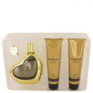 Bebe Gold by Bebe - Gjafasett -- 3.4 oz Eau De Parfum Spray + 3.4 oz Body Lotion + 3.4 oz Shower Gel f. dömur
