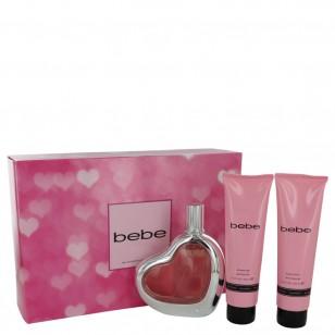 Bebe by Bebe - Gjafasett- 3.4 oz Eau De Parfum Spray + 3.4 oz Body Lotion + 3.4 oz Shower Gel f. dömur
