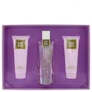 Bora Bora by Liz Claiborne - Gjafasett -- 3.4 oz Eau De Parfum Spray + 3.4 oz Body Lotion + 3.4 oz Body Wash f. dömur
