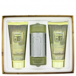 BELLAGIO by Bellagio - Gjafasett -- 3.4 oz Eau De Toilette Spray + 6.8 oz Shower Gel + 6.8 oz After Shave Balm f. herra