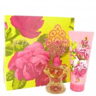 Betsey Johnson by Betsey Johnson - Gjafasett -- 3.4 oz Eau De Parfum Spray + 6.7 oz Body Lotion f. dömur
