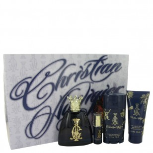 Christian Audigier by Christian Audigier - Gjafasett -- 3.4 oz Eau De Toilette Spray + .25 oz MIN EDT + 3 oz Body Wash + 2.75 Deodorant Stick f. herra
