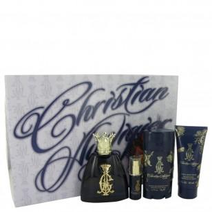 Christian Audigier by Christian Audigier - Gjafasett -- 3.4 oz Eau De Toilette Spray + .25 oz MIN EDT + 3 oz Body Wash + 2.75 Deodorant Stick f. herra