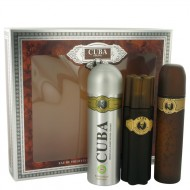 Cuba Gold by Fragluxe - Gjafasett -- 3.3 oz Eau De Toilette Spray + 3.3 oz After Shave Spray + 6.7 oz Body Deodorant Spray f. herra