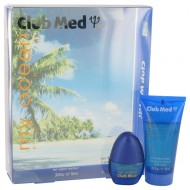 Club Med My Ocean by Coty - Gjafasett -- .33 oz Mini EDT Spray + 1.85 oz Hair & Body Wash f. herra