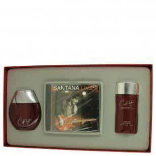 Carlos Santana by Carlos Santana - Gjafasett- 3.4 oz Fine Cologne Spray + 2.6 oz Deodorant Stick + Carlos Santana Live CD f. herra
