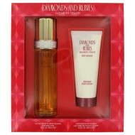 DIAMONDS & RUBIES by Elizabeth Taylor - Gjafasett -- 3.3 oz Eau De Toilette Spray + 3.3 oz Body Lotion f. dömur