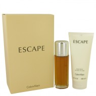 ESCAPE by Calvin Klein - Gjafasett -- 3.4 oz Eau De Parfum Spray + 6.7 oz Body Lotion f. dömur