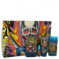 Ed Hardy Hearts & Daggers by Christian Audigier - Gjafasett -- 3.4 oz Eau De Toilette Spray + 3 oz Shower Gel + 2.75 oz Deodorant Stick + .25 oz Mini EDT Spray f. herra
