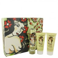 Love & Luck by Christian Audigier - Gjafasett -- 1.7 oz Eau De Parfum Spray + 3 oz Body Lotion + 3 oz Bath & Shower Gel f. dömur