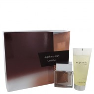 Euphoria by Calvin Klein - Gjafasett- 1.7 oz Eau De Toilette Spray + 3.4 oz Shower Gel f. herra