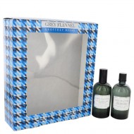 GREY FLANNEL by Geoffrey Beene - Gjafasett -- 4 oz Eau De Toilette Spray + 4 oz After Shave f. herra