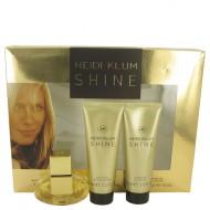 Shine by Heidi Klum - Gift Set -- 1 oz Eau De Toilette Spray + 2.5 oz Body Lotion + 2.5 oz Shower Gel f. dömur