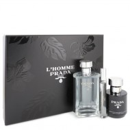L'homme Prada by Prada - Gjafasett - 3.4 oz Eau De Toilette Spray + .34 oz Mini EDT Spray + 3.4 oz Shower Cream f. herra