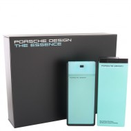 The Essence by Porsche - Gjafasett -- 2.7 oz Eau De Toilette Spray + 6.8 oz Shower Gel f. herra