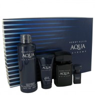 Perry Ellis Aqua Extreme by Perry Ellis - Gjafasett -- 3.4 oz Eau De Toilette Spray + .25 oz Mini EDT Spray + 6.8 oz Body Spray + 1.7 oz Shower Gel f. herra