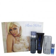Paris Hilton by Paris Hilton - Gjafasett -- 3.4 oz  Eau De Toilette Spray + 3 oz Body Wash + 2.75 oz Deodorant Stick + .25 Mini EDT Spray f. herra