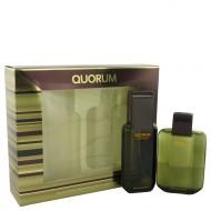 QUORUM by Antonio Puig - Gjafasett- 3.3 oz Eau De Toilette Spray + 3.3 oz After Shave f. herra