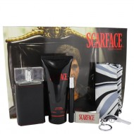 Scarface Al Pacino by Universal Studios - Gjafasett -- 3.4 oz Eau De Toilette Spray + 6.8 oz Body Lotion + .34 oz Mini EDT Spray + Money Clip+ Key Chain + Designer Scarf f. herra