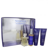 Shania Starlight by Stetson - Gjafasett- 1.7 oz Eau De Toilette Spray + 4 oz Body Mist + 4 oz Shimmer Body Lotion + 4 oz Shower Gel f. dömur