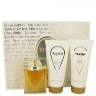 Tiamo by Parfum Blaze - Gjafasett- 3.4 oz Eau De Parfum Spray + 6.8 oz Body Lotion + 6.8 oz Shower Gel f. dömur