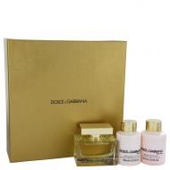 The One by Dolce & Gabbana - Gjafasett- 2.5 oz Eau De Parfum Spray + 3.4 oz Body Lotion + 3.4 oz Shower Gel f. dömur