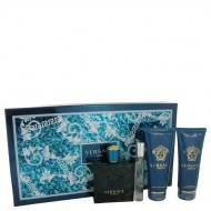 Versace Eros by Versace - Gjafasett -- 3.4 oz Eau De Toilette Spray + 0.3 oz Mini EDT Spray + 3.4 oz After Shave Balm + 3.4 oz Shower Gel f. herra