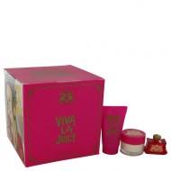Viva La Juicy by Juicy Couture - Gjafasett -- .17 oz Mini EDP + .5 oz Body CrÞme + .8 oz Shower Gel f. dömur