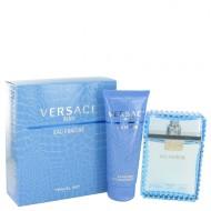 Versace Man by Versace - Gjafasett - 3.3 oz Eau De Toilette Spray (Eau Frachie) + 3.3 oz Shower Gel f. herra