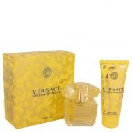 Versace Yellow Diamond by Versace - Gjafasett -- 3 oz Eau De Toilette Spray + 3.4 oz Body lotion f. dömur