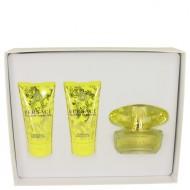Versace Yellow Diamond by Versace - Gjafasett -- 1.7 oz Eau De Toilette Spray + 1.7 oz Body Lotion + 1.7 oz Shower Gel f. dömur