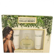 Wild Essence Halle Berry by Halle Berry - Gift Set -- 1 oz Eau De Parfum Spray + 2.5 oz Body Lotion + 2.5 oz Shower Gel f. dömur