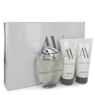 AV by Adrienne Vittadini - Gjafasett- 3 oz Eau De Parfum Spray + 3.3 Body Lotion + 3.3 oz Shower Gel f. dömur