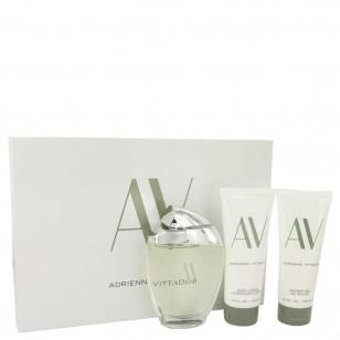 AV by Adrienne Vittadini - Gjafasett -- 3 oz Eau De Parfum Spray + 3.3 Body Lotion + 3.3 oz Shower Gel f. dömur