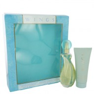 WINGS by Giorgio Beverly Hills - Gjafasett- 3 oz Eau De Toilette Spray + 3.4 oz Body Moisturizer f. dömur