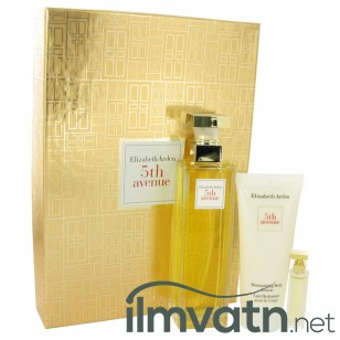 5TH AVENUE by Elizabeth Arden - Gjafasett- 4.2 oz Eau De Parfum Spray + .12 oz Mini + 3.3 oz Body Lotion f. dömur