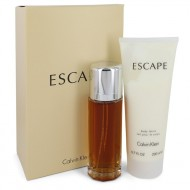 ESCAPE by Calvin Klein - Gjafasett- 3.4 oz Eau De Parfum Spray + 6.7 oz Body Lotion f. dömur