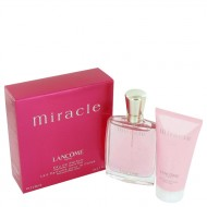 MIRACLE by Lancome - Gjafasett- 1.7 oz Eau De Parfum Spray + 1.7 oz Body Lotion f. dömur