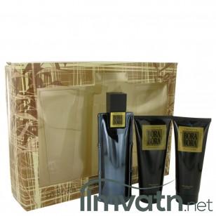 Bora Bora by Liz Claiborne - Gjafasett - 3.4 oz Cologne Spray + 3.4 oz Body Moisturizer + 3.4 oz  Hair & Body Wash f. herra