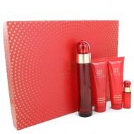 Perry Ellis 360 Red by Perry Ellis - Gjafasett- 3.4 oz Eau De Parfum Spray + 3 oz Body Lotion + 3 oz Shower Gel + .25 oz Mini EDP Spray f. dömur