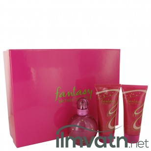 Fantasy by Britney Spears - Gjafasett - 3.3 oz Eau De Parfum Spray + 3.3 oz Body Souffle + 3.3 oz Shower Gel f. dömur